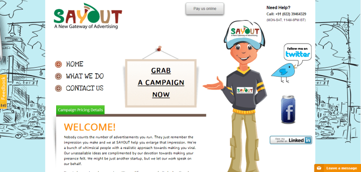 SayOut.in – Makes Your Promotional Campaigns Go Viral