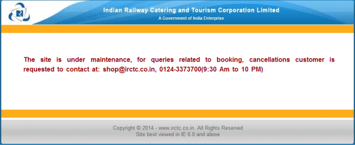 Did IRCTC Shut Down Its E-Commerce Portal