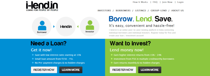 www.i-lend.in India's Peer-To-Peer Investment Portal
