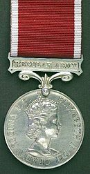 Ernest was awarded the Long service Medal