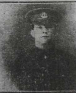 John photograph from High Peak News October 1915.