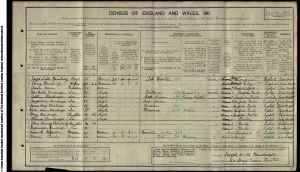 John Bainbridge 1911 Census