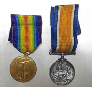 Tom Radford WW1 Medals