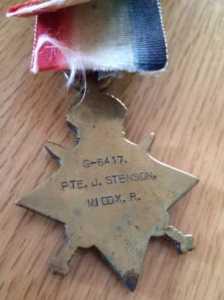 John's WW1 Medal