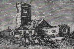 12h Century Fairfield Chapel from an etching in 1811.