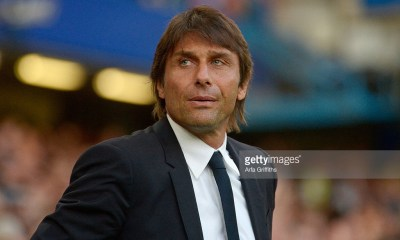 LONDON, ENGLAND - AUGUST 15: Antonio Conte of Chelsea looks on prior to the Premier League match between Chelsea and West Ham United at Stamford Bridge on August 15, 2016 in London, England. (Photo by Arfa Griffiths/West Ham United via Getty Images)