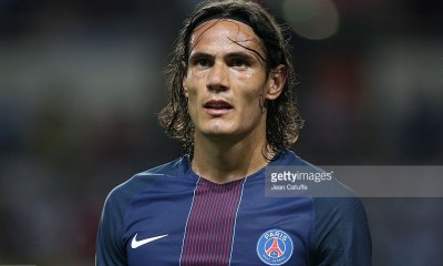 MONACO, MONACO - AUGUST 28: Edinson Cavani of PSG looks on during the French Ligue 1 match between AS Monaco (ASM) and Paris Saint-Germain (PSG) at Stade Louis II on August 28, 2016 in Monaco, Monaco. (Photo by Jean Catuffe/Getty Images)