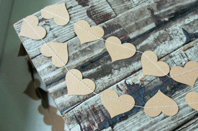 Kraft Paper Wedding Garland