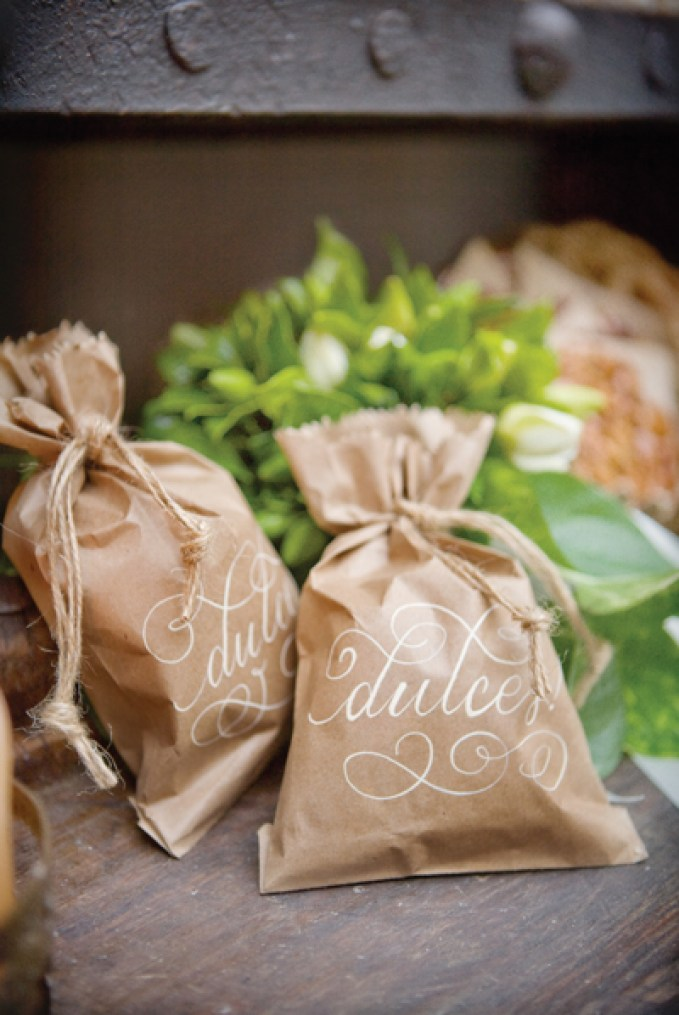 Kraft Paper Wedding Menu