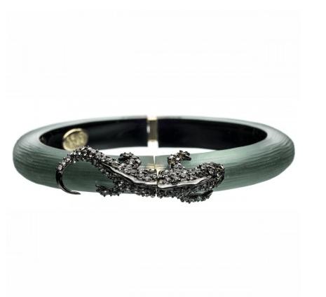Alexis Bittar, Durban Gunmetal Salamander Bracelet, $225