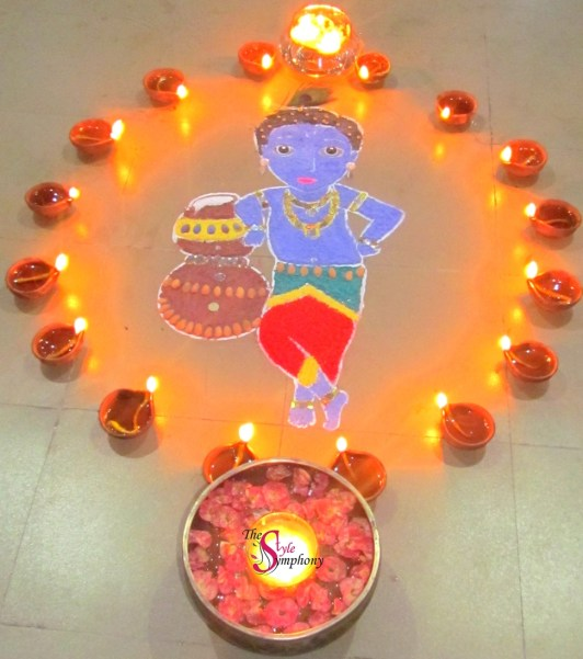 Diwali celebrations rangoli