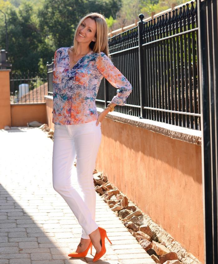 Orange Pointy Heels