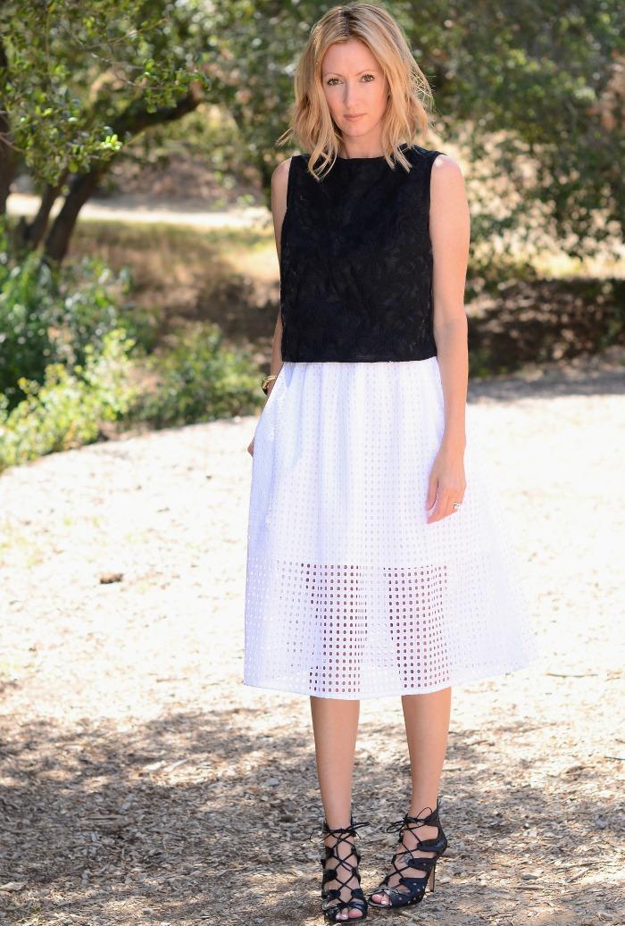 perforated full skirt