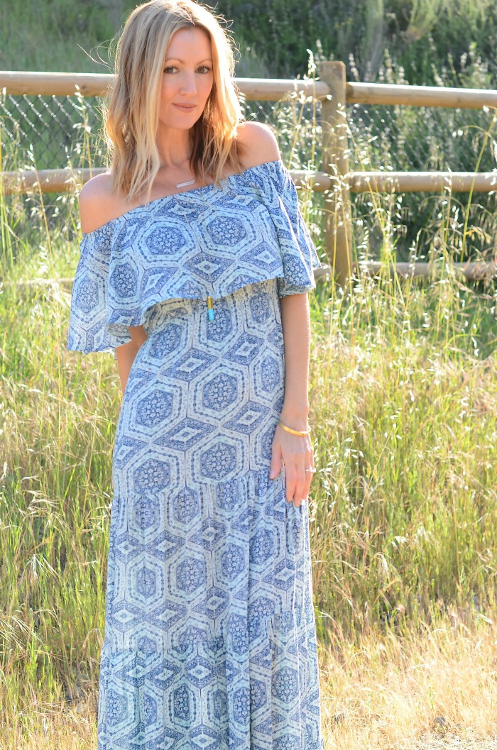 Swirl Boutique Ruffle Maxi Dress