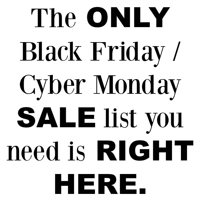 Black Friday Cyber Monday SALE LIST