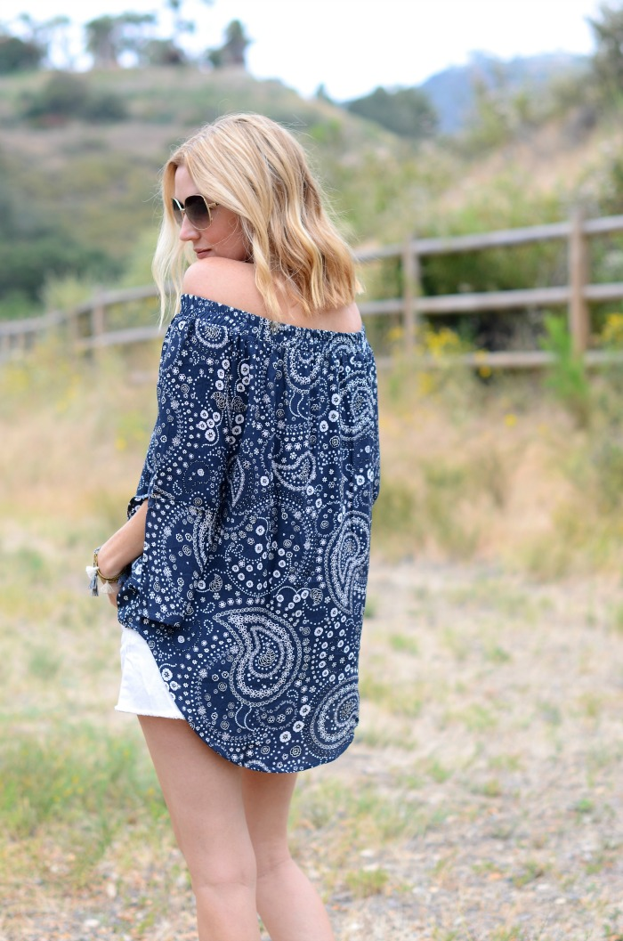 Faithful Paisley Off the Shoulder Top