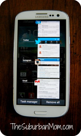 Android Ice Cream Sandwich Task Manager Samsung Galaxy