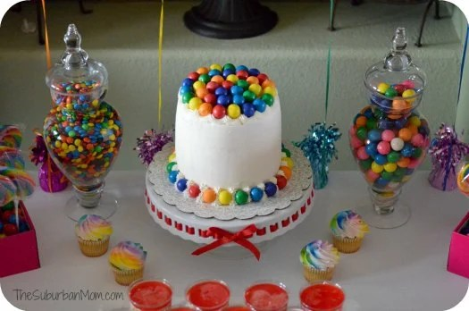 Rainbow Birthday Party Cake Decorations