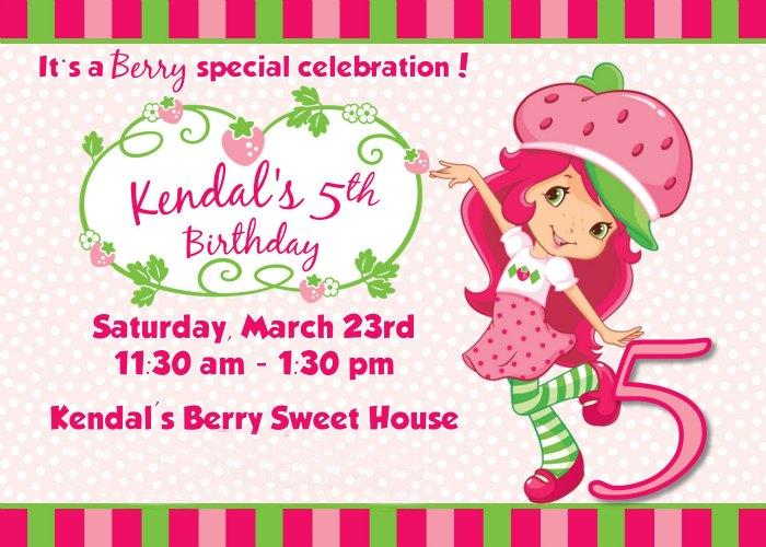Strawberry Shortcake Birthday Party Inviation
