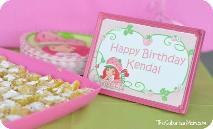 Strawberry Shortcake Birthday Party Sign
