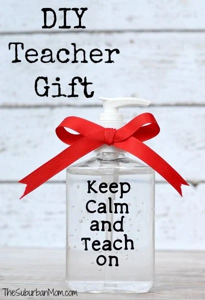 DIY Teacher Gift Keep Calm And Teach On