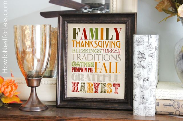 Thanksgiving Free Printable Sign