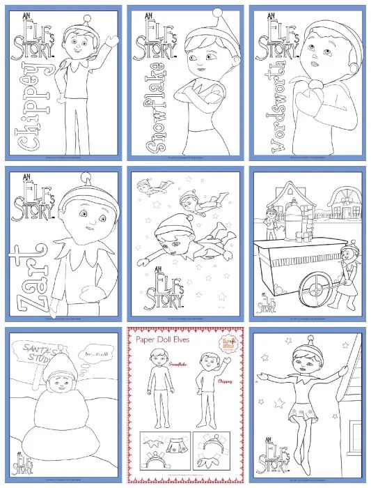 Elf On The Shelf Free Printable Coloring Pages - TheSuburbanMom