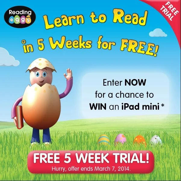 Reading Eggs Free 5 Week Trial