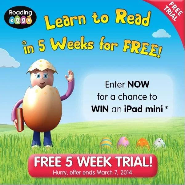 Reading Eggs Free 5 Week Trial