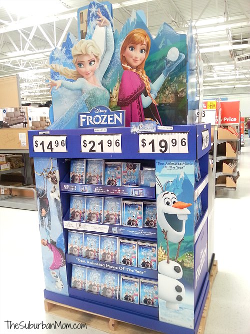 Disney Frozen DVD Display