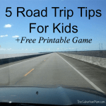5 Road Trip Survival Rules For Traveling With Kids + Free Printable License Plate Game