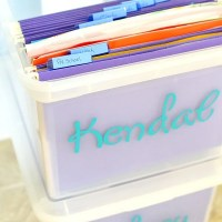 File Box School Paper Organization System ~ Mini Fridge Giveaway