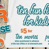 Cinemark Summer Movie Clubhouse 2015 Schedule
