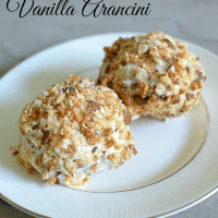 Toasted Almond And Vanilla Arancini Recipe