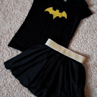 Using Freezer Paper to make a Batgirl or Batman Shirt and Costume