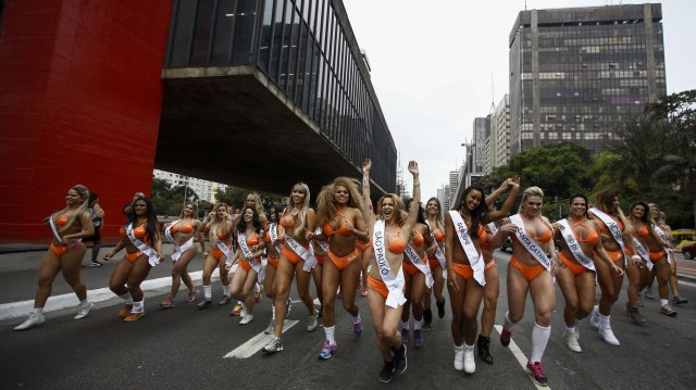 Motorists forced to stop for the parade had little to complain about as the models showed what they were made of