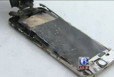 The iPhone was totally wrecked
