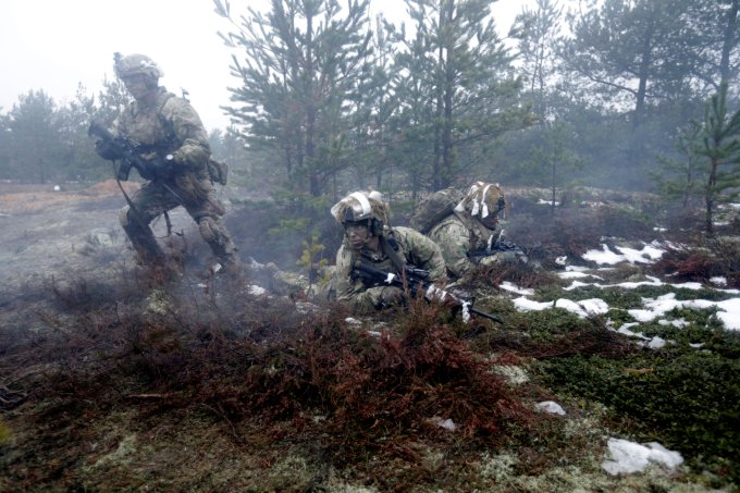 US troops have been taking part in war games in Latvia in the past fortnight