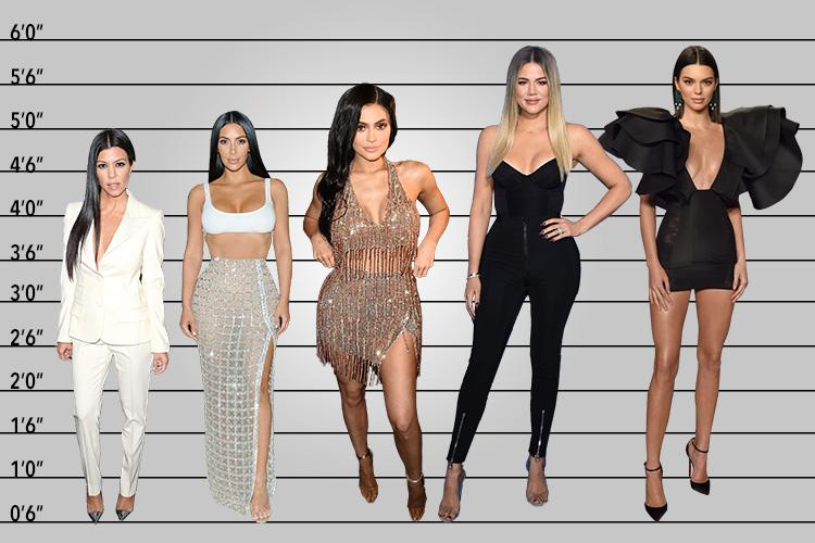 Who s the tallest Kardashian Jenner sister  Here s how Kim  Kendall     Here s how the Kardashian Jenner sisters measure up height wise