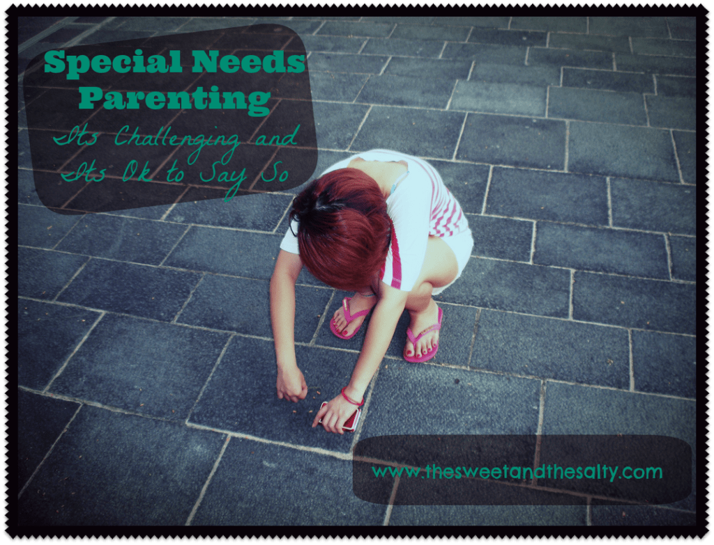 Saying parenting a child with Special Needs is challenging doesn't mean you're downing your child, or that they're not a blessing or a gift. Parenting a child with Special Needs is challenging, and its ok to say it is. www.thesweetandthesalty.com