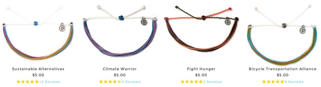 Pura Vida Bracelets Charity Collections