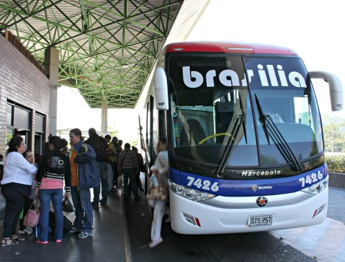 Bus travel in South America