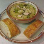 Chicken mushroom noodle soup