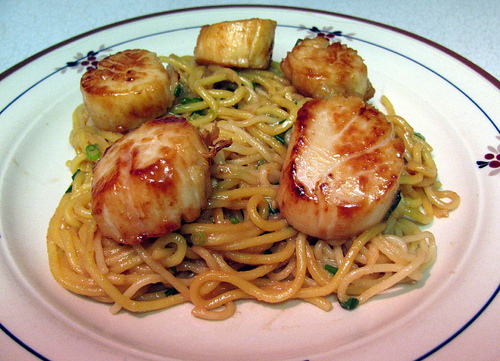 Miso Glazed Scallops
