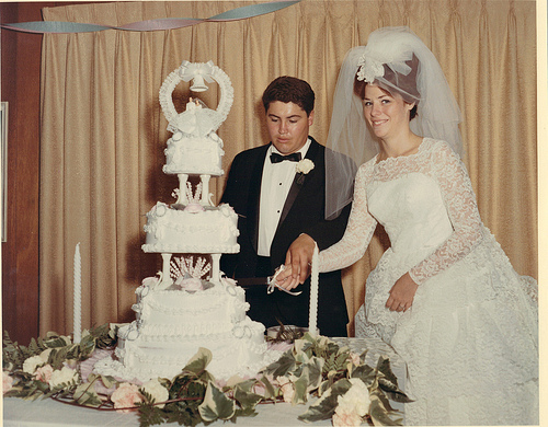 Mom & Dad's Wedding Cake