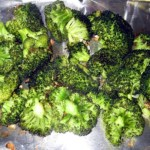 Roasted broccoli with red pepper and garlic