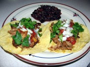 Spicy Slow Cooker Chicken Tacos