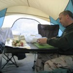 Cooking with foil in Anza Borrego