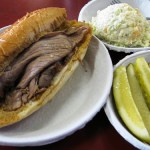 Philippe's Double-Dipped French Dip Sandwich