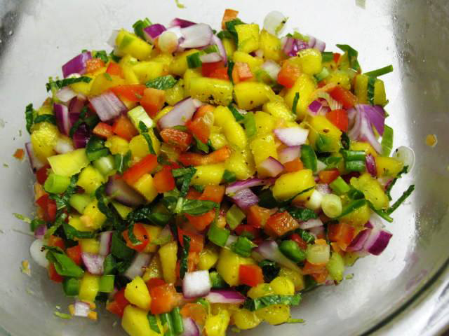 Mango Habanero Salsa — Maybe Too Hot for You…